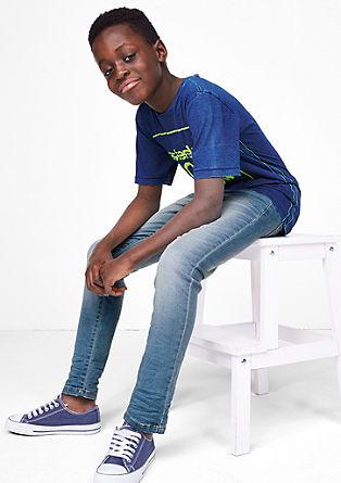 Skinny Seattle: jeans met neonkleurige details