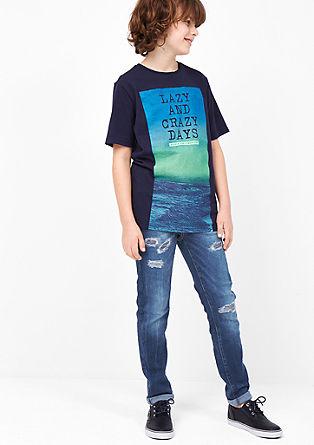 Skinny Seattle: sprane jeans hlače distressed