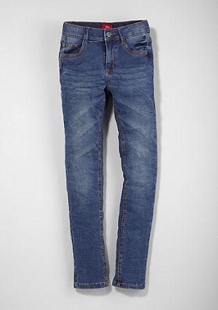Skinny Seattle: Zmečkane jeans hlače
