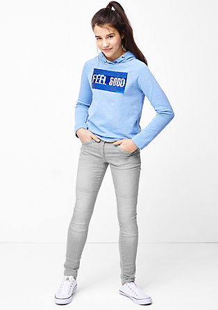 Skinny Suri: Biker-Jeans