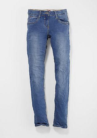 Skinny suri: blue stretchjeans