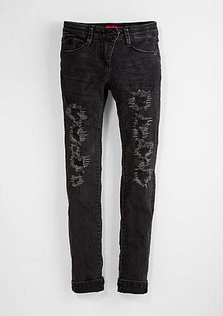 Skinny Suri: Jeans hlače z raztrganinami