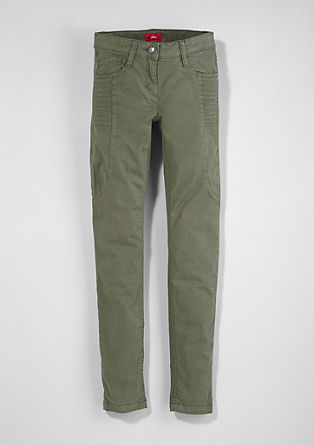 Skinny Suri: stretch trousers with topstitching from s.Oliver