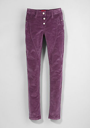 Skinny Suri: velvety corduroy trousers from s.Oliver