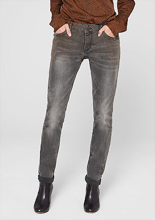 Skinny Tube: Jeans mit Glitzer