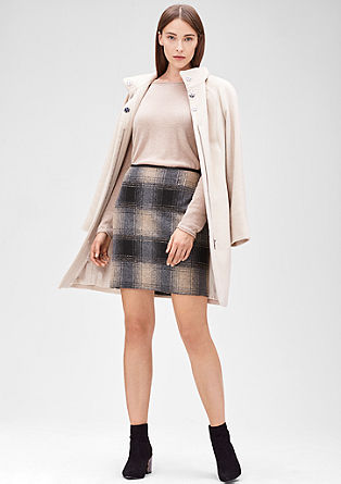 Skirt with a glen plaid pattern from s.Oliver