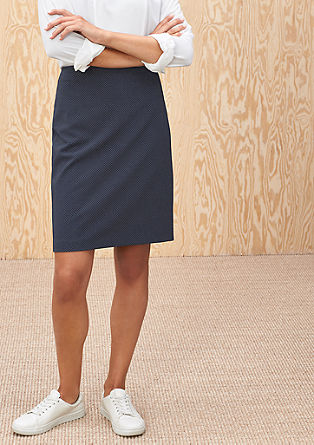Skirt with a textured pattern from s.Oliver