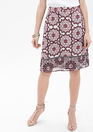 Skirt with an all-over pattern from s.Oliver