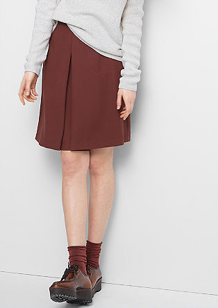 Skirt with inverted pleat from s.Oliver