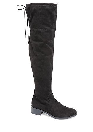 Škornji nad koleni z okrasno vrvico