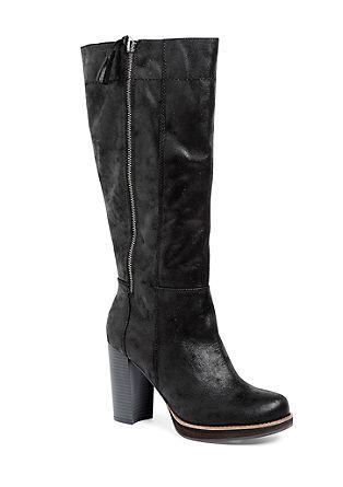 Škornji s plato podplatom in okrasnimi zadrgami
