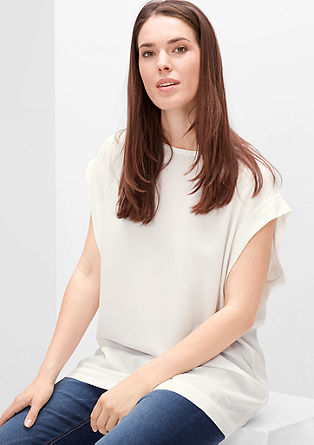 Sleeveless blouse top in crêpe from s.Oliver