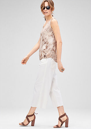 Sleeveless blouse with an all-over print from s.Oliver