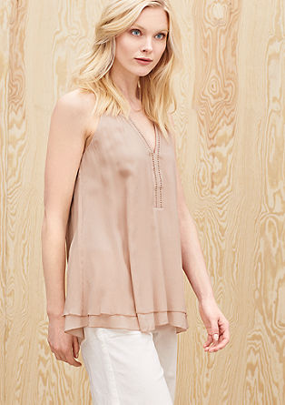 Sleeveless silk blouse from s.Oliver