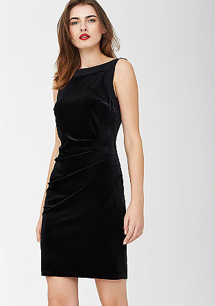 Sleeveless velvet dress from s.Oliver