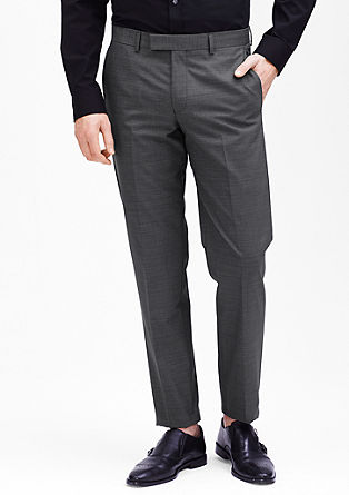 Slim: Anzughose mit Webmuster