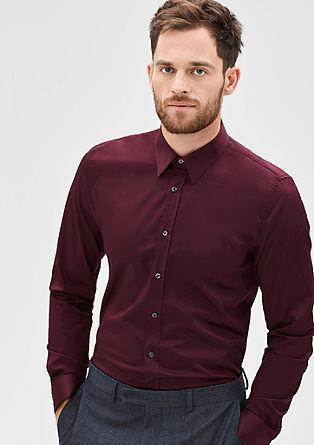 Slim: business overhemd met stretch