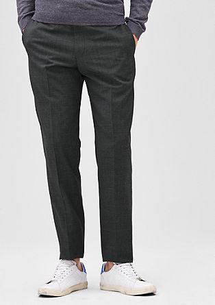 Slim: business pantalon met pied-de-poule design