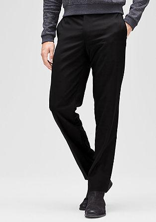 Slim: business pantalon van scheerwol