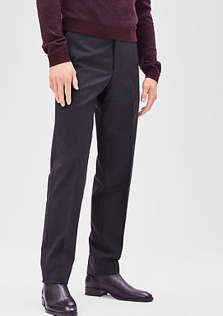 Slim: Business trousers with new wool from s.Oliver