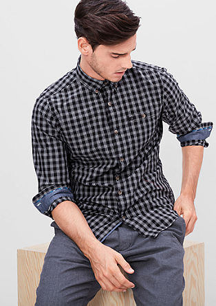 Slim: Button-Down-Karohemd