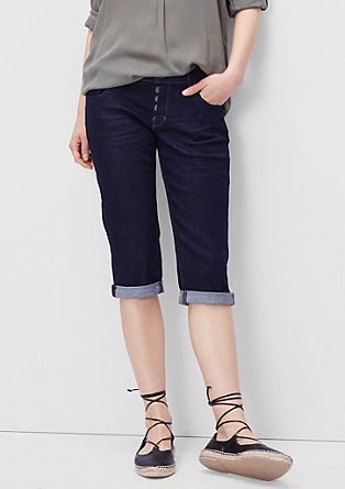 Slim: Capri jeans with a button placket from s.Oliver