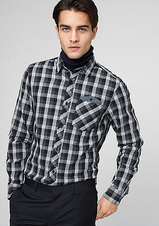 Slim: casual check shirt from s.Oliver