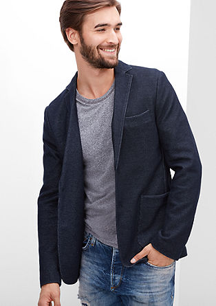 Slim: casual tailored jacket from s.Oliver