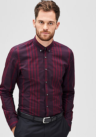 Slim: check button-down shirt from s.Oliver
