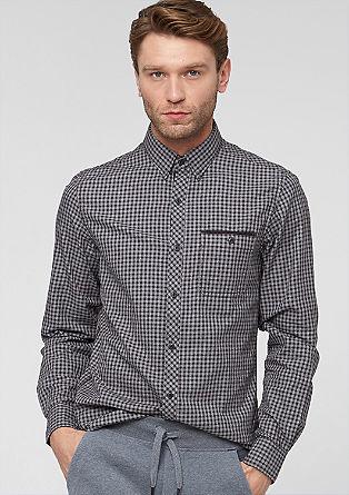 Slim: check herringbone shirt from s.Oliver