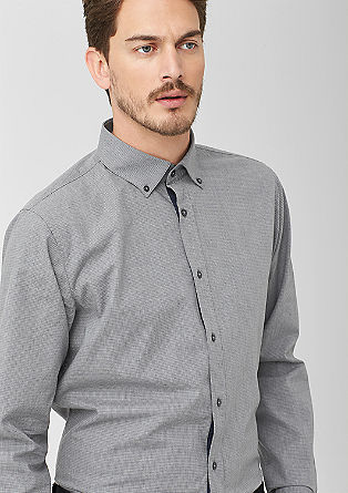Slim: check semi-business shirt from s.Oliver