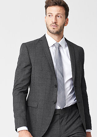 Slim: check tailored jacket from s.Oliver