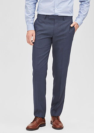 Slim: Classic business trousers from s.Oliver