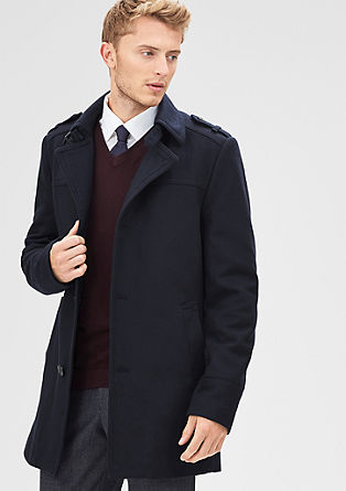 Slim: classic wool coat from s.Oliver