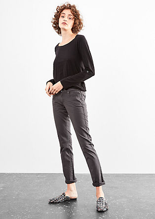 Slim: Coloured denim jeans with stretch from s.Oliver
