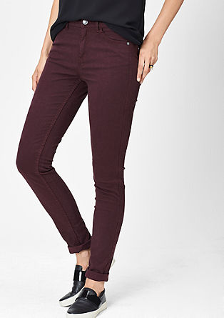 Slim: coloured stretchjeans
