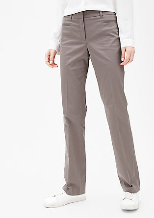Slim: cotton satin trousers from s.Oliver
