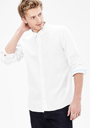 Slim: cropped Oxford shirt from s.Oliver