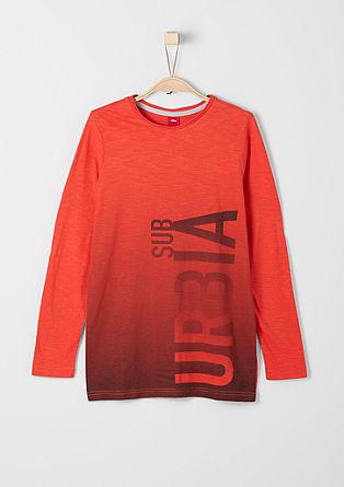 Slim: dolga majica s potiskom