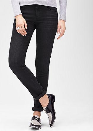 Slim: Donkere stretchbroek