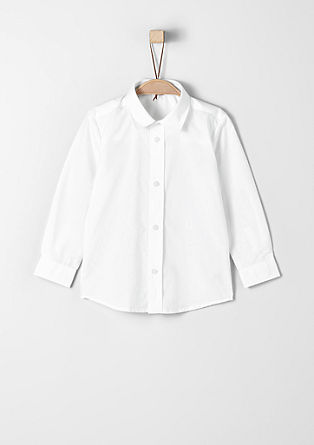 Slim: elegant cotton shirt from s.Oliver