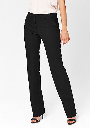 Slim: fabric trousers with a piqué texture from s.Oliver