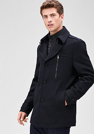 Slim: Fashionable wool jacket from s.Oliver
