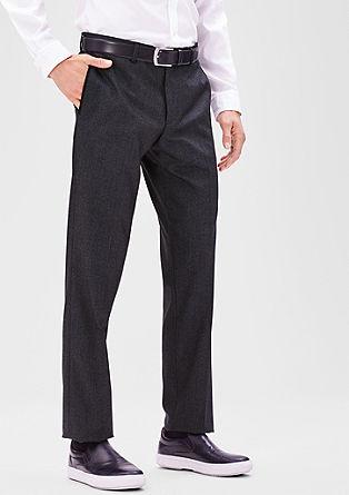 Slim: Feestelijke pantalon van twill