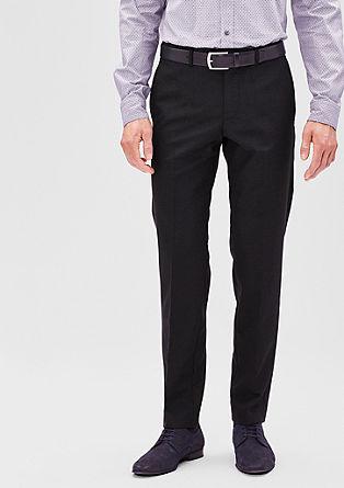 Slim: Feestelijke scheerwollen pantalon