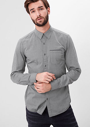 Slim: Fein gemustertes Hemd
