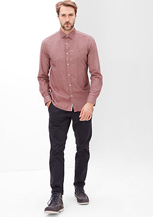 Slim: finely mottled cotton shirt from s.Oliver