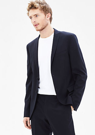 Slim: finely textured jacket from s.Oliver