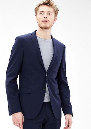Slim: Flexible tailored jacket in new wool from s.Oliver