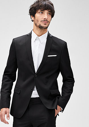 Slim: Formal jacket with accents from s.Oliver